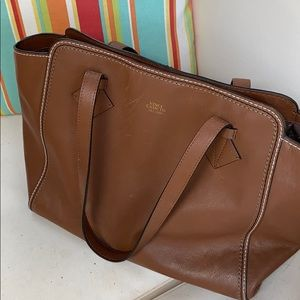 Vince Camuto Hazelnut Leather tote